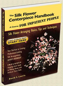 Silk flower arranging instruction BOOK