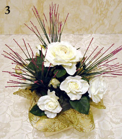 Making an easy silk flower arrangement