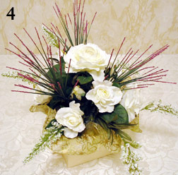 Making a simple silk flower centerpiece