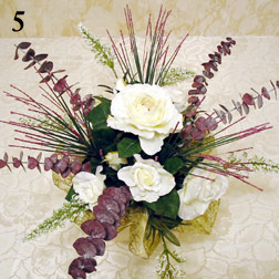 Make a silk floral arrangement