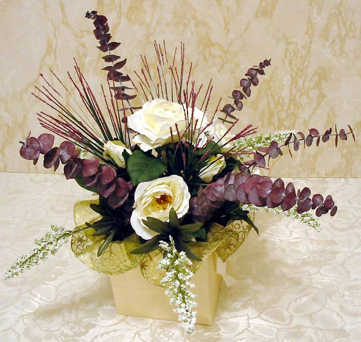 Make a classy silk flower centerpiece in five easy steps click for large picture of easy 5 step silk flower centerpiece new window mightylinksfo