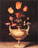Flowers in antique vase