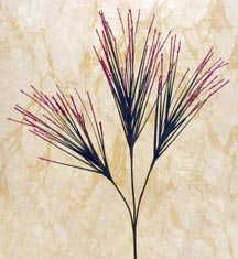 CLICK for close-up of Meadow Wisp silk flower stem (new window)
