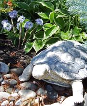 Outdoor artificial flower bed