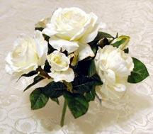 CLICK for large picture of Silk Rose Floral Bush (new window)