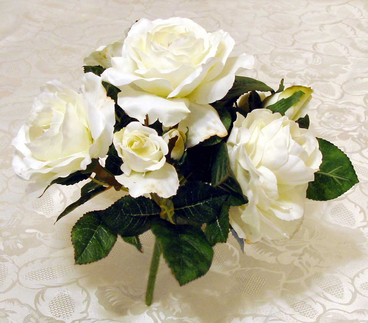Make a classy silk flower centerpiece in five easy steps silk rose floral bush mightylinksfo