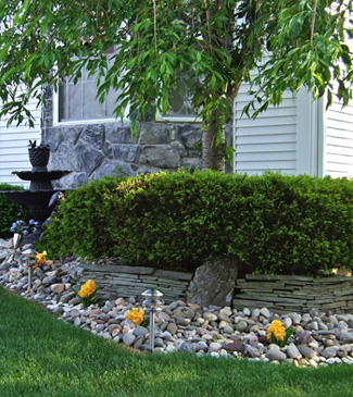 Waste rock obtained local landscape supply yarddesign for Local landscape designers