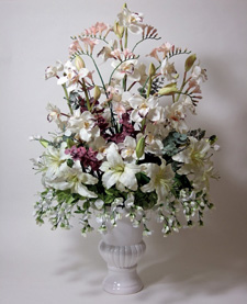 Wedding silk flower arrangement