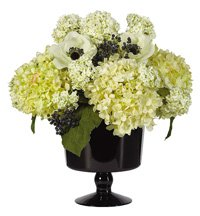 Black and White Floral Centerpiece