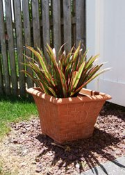 Faux foliage plant outdoors