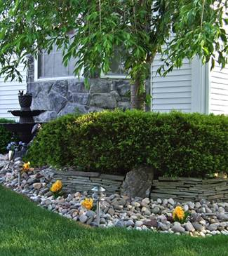 Outdoor artificial flower landscaping ideas yellow silk flowers planted outdoors mightylinksfo