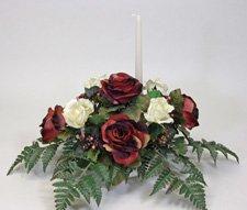 Banquet table silk flower centerpiece